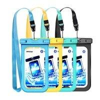 3/4/7 шт. IPX8 Подводные сумки Водонепроницаемый телефона Универсальный 4-6 дюймов Чехлы для мобильных телефонов для плавания чехол для iphone Xs X 8 7 ...