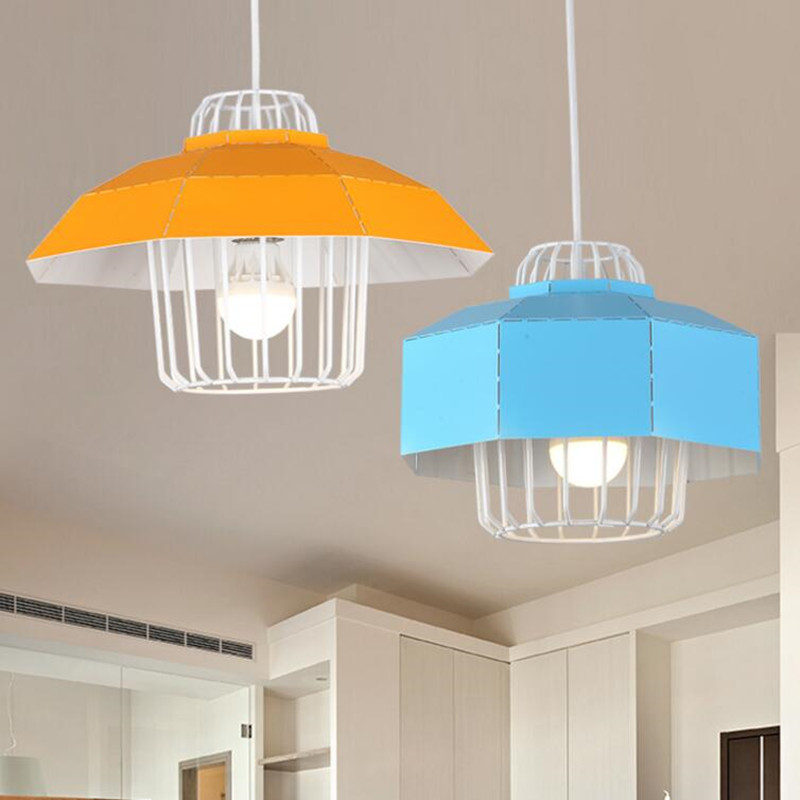 Modern LED pendant lamp color iron Hollow out light metal ball the living bedroom shop lampshade style lighting light fixture half round brass ball copper lampshade fabric wire pendant lamp fixture brass lighting led modern style restaurant bedroom light