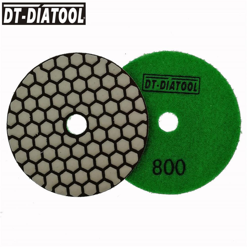 Ligação de Resina de Diamante Disco de Lixa para Granito Almofadas de Polimento Dt-diatool Grit 800 Dia100mm Seco Mármore Cerâmica 4 Polegada 7 Pcs – pk