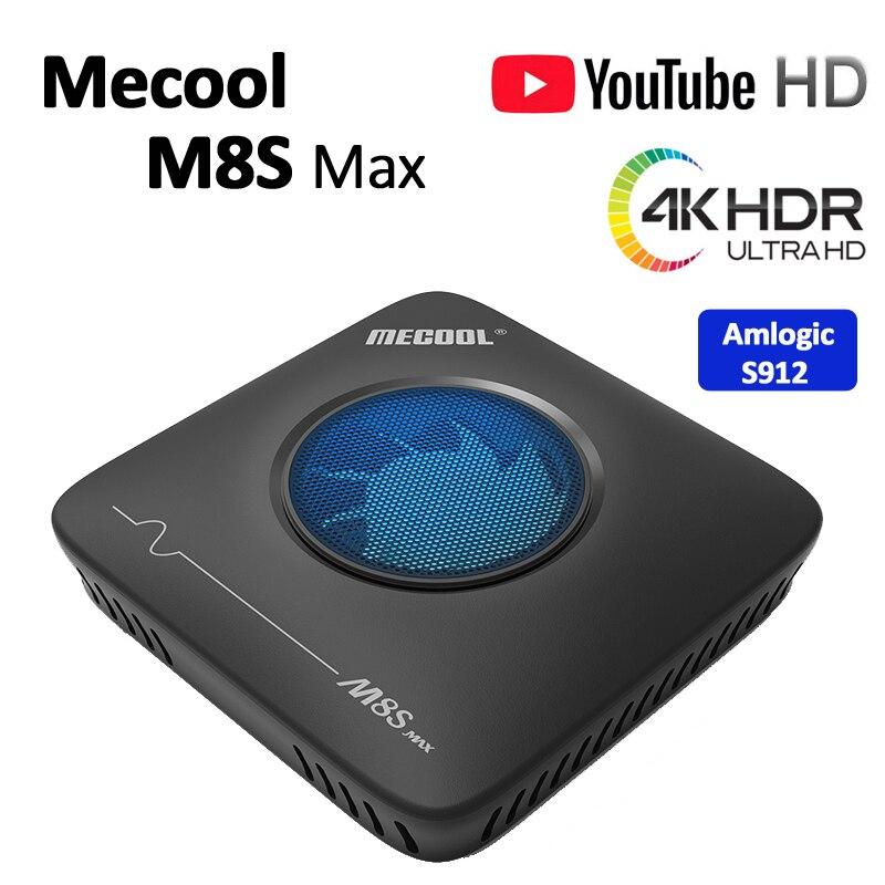 5pcs Mecool M8S Max TV Box Amlogic S912 3GB RAM 32GB ROM 5G WIFI bluetooth 4.0 Android 4K VP9 H.265 TV Box