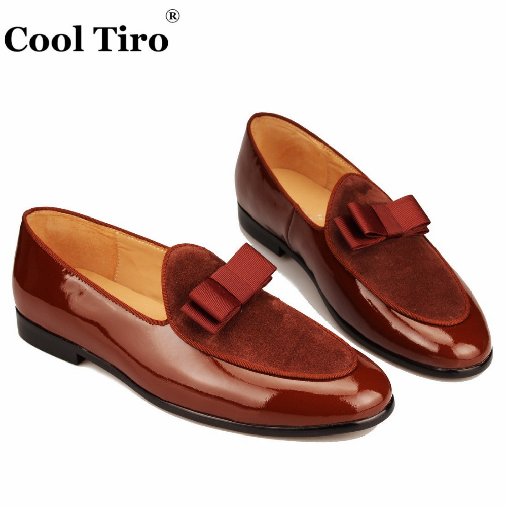 brown Patent leather Loafers Men Flat Shoes  (4)