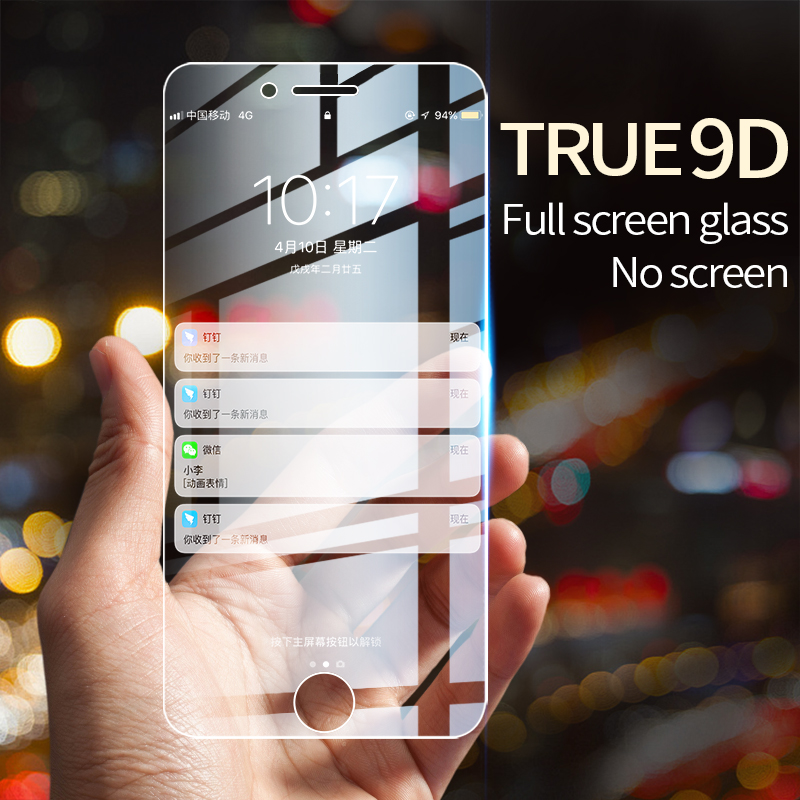 Protective Tempered Glass For iPhone X iPhone 7 HD Transparent Full Screen Protector Glass For XR
