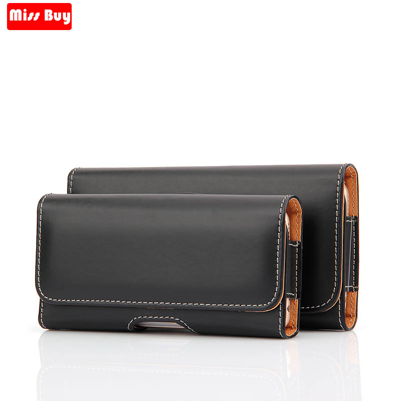 2018 Universal Casual Leather Phone Pouch For Huawei Honor 8C 8 C C8 Cover Waist Case Holster Bag Belt For Huawei Honor8c Case