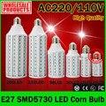 E27 220 V SMD5730 Led Milho Lâmpada LED de Luz 24 42 60 84 98 132 165 LEDs de Milho Luz Led Lighting Lâmpada de Milho de Alta Potência