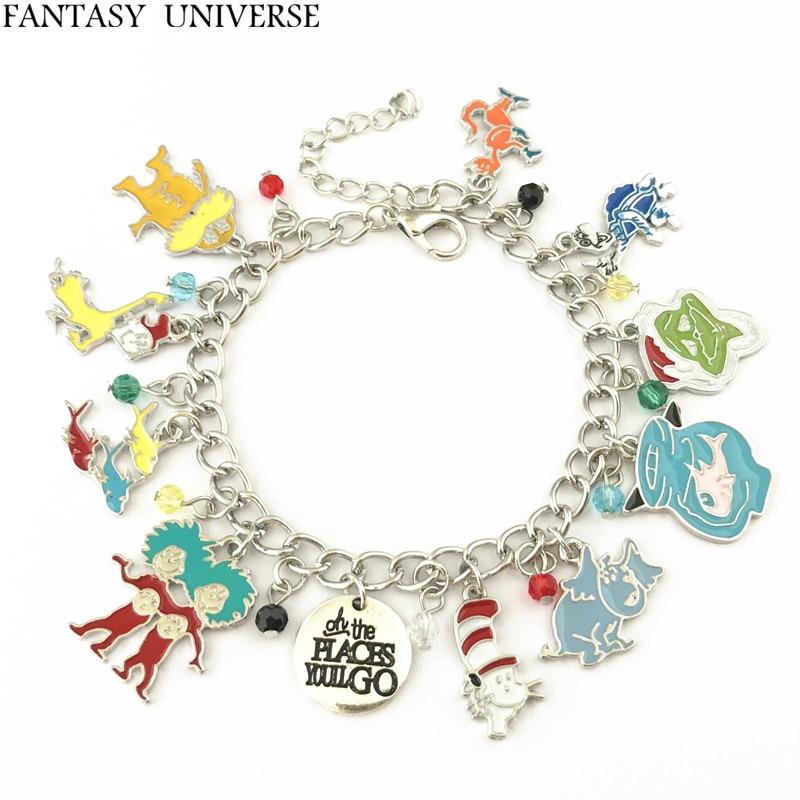 FANTASY UNIVERSE Freeshipping 20pc a lot Dr Seuss charm bracelet SSBSHIKL01