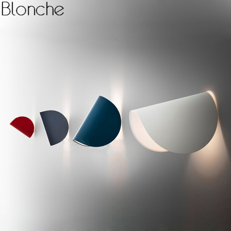 Italy Modern IO Wall Lamp Nordic Led Wall Light Fixtures for Home Bedroom Bathroom Loft Decor