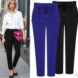 Image 4 - 2020 Autumn European Style Casual Loose Stretch Women Palazzo Harem Trousers Female Slack Sweatpants Plus Size M 3XL 4XL 5XL 6XL