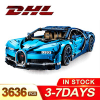 DHL Legoing Technic 42083 The Bugatti Chiron Racing Car Sets Model Building Block Brick Toys For Children Birthday Gift SY7950