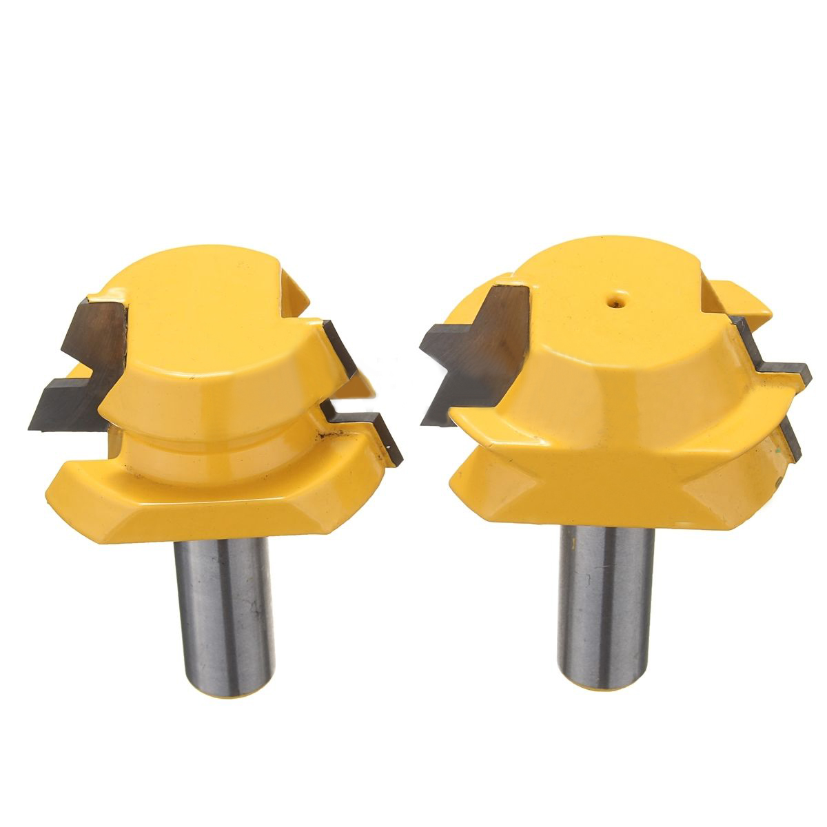2pcs/set Router Bit 1/2 Shank Mayitr Carbide Alloy 22.5 Degree Router Bits Lock Miter Tools For Woodworking Engraving Machine high grade carbide alloy 1 2 shank 2 1 4 dia bottom cleaning router bit woodworking milling cutter for mdf wood 55mm mayitr