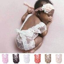 Кружева для новорожденных детские шаровары Boho шаровары детский джемпер для маленьких девочек комбинезон для новорожденных реквизит для фотосессии Детские фотографии Bebe Fotos