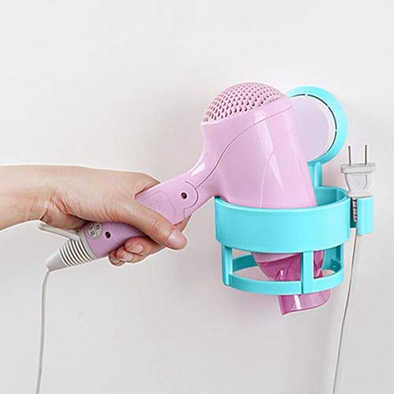Multifunctional Powerful Suction Cup Bathroom SStorage Rack Wall-mounted Hair Dryer Bracket Towel Rack Storage Rack