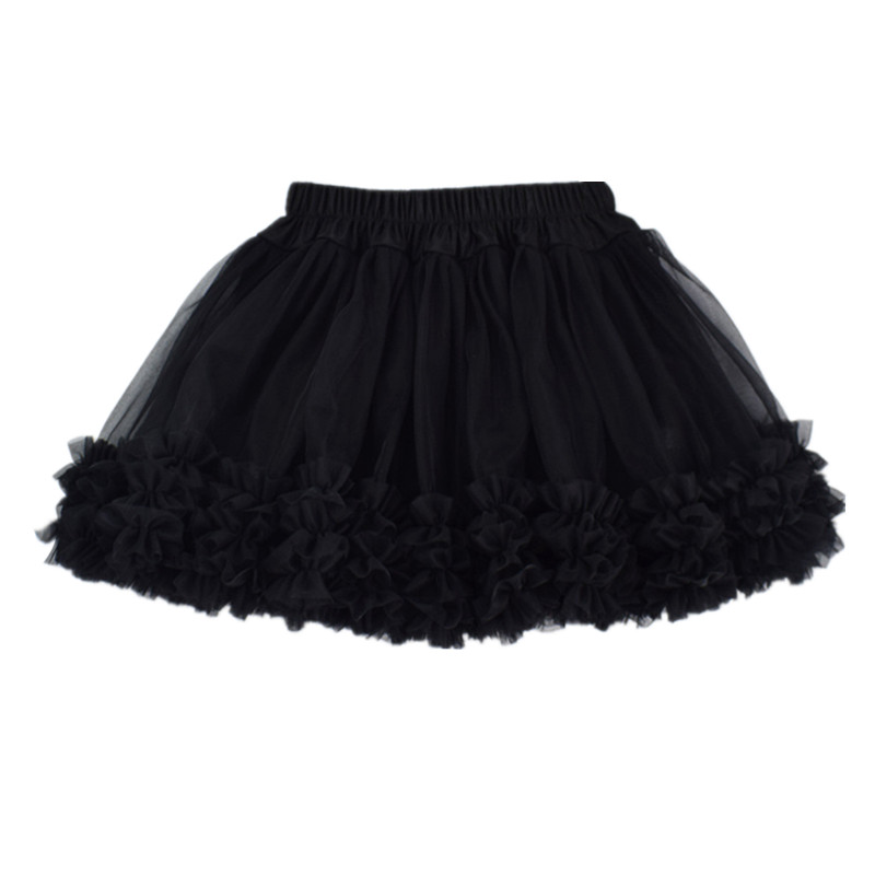 Ins Style Solid Color Tutu Skirts For Girls Children Tulle Pettiskirt Dance Party Birthday Photography Clothes Skirts 1 8Years in Skirts from Mother Kids