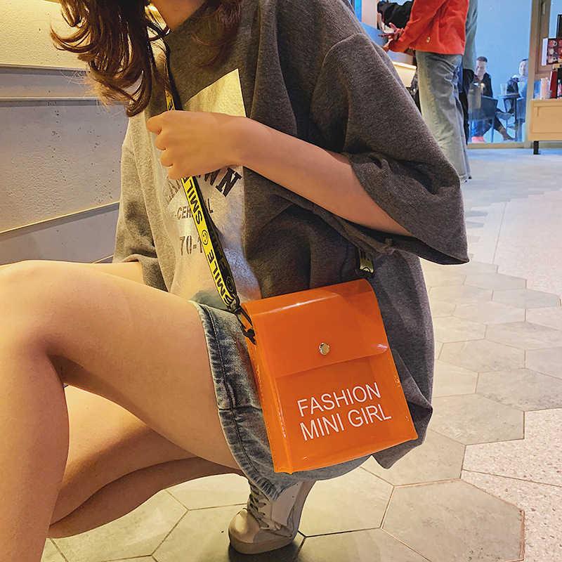 ¡Novedad de 2019! bolso de hombro transparente para mujer, Bolso tipo bandolera transparente para mujer