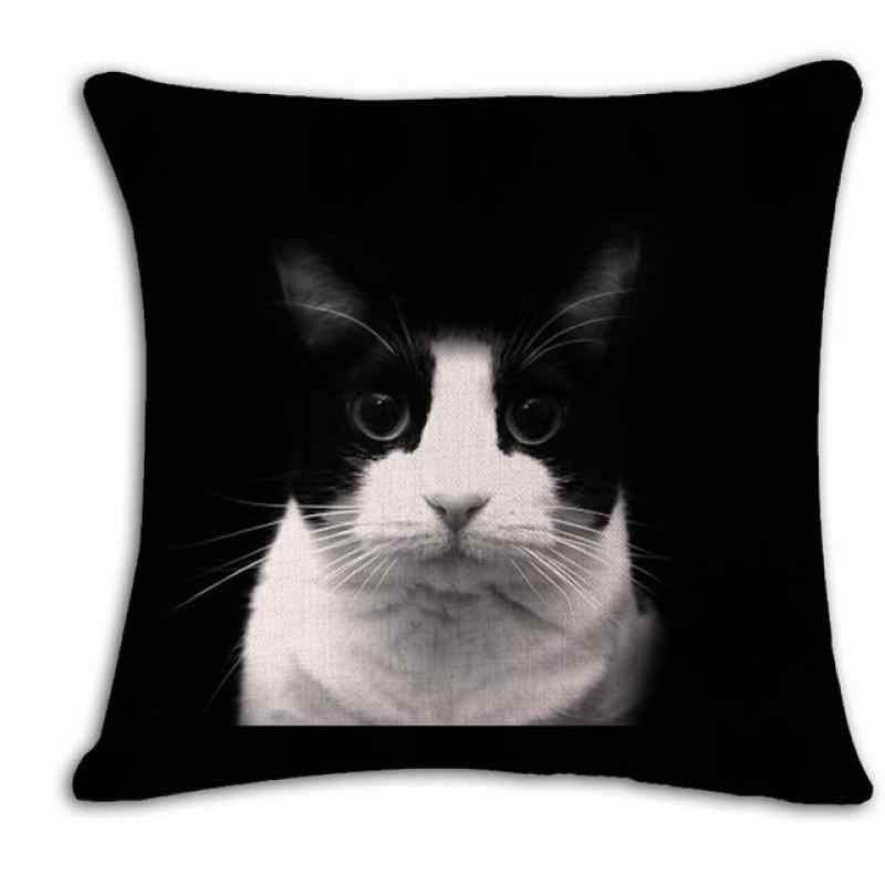 Modern Home Decor Almofada Gato Preto Bonito Dos Desenhos Animados do Gato do animal de Estimação Animal de Pelúcia Travesseiro Macio Sofá Encosto De Cabeceira Para A Decoração Do Quarto