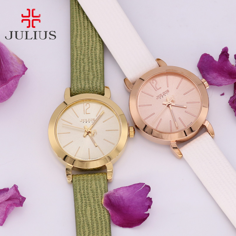 Top Julius Lady Women's Watch Elegant Simple Fashion Hours Dress Clock Bracelet Leather School Student Girl Gift Box 732