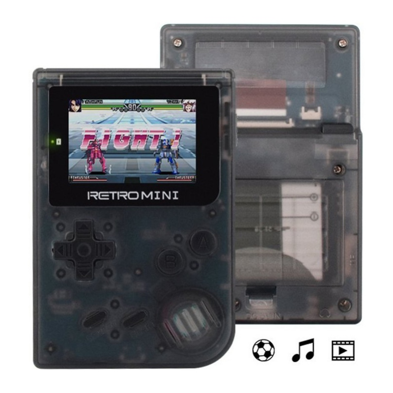 Portable Mini 32 Bit Retro Game Console Transparent Shell Handheld Game Players Built-in 940 RPG/AVG/ACT Classic Games ...