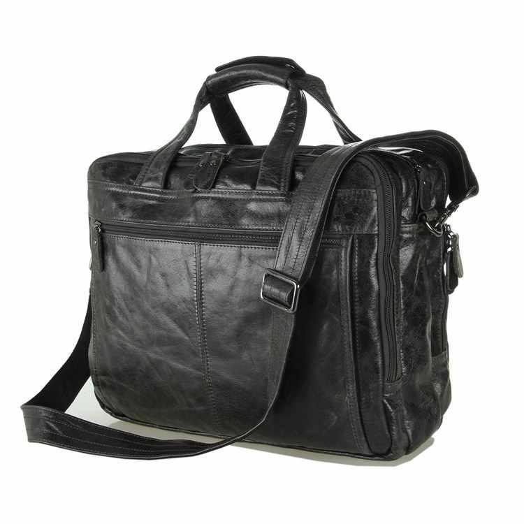 Nesitu Винтаж Серый Первый слой из натуральной кожи Офисные мужские портфель 14 ''/15,6'' ноутбук человек сумки m7146