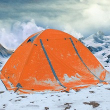 Camping camping tent outdoor 3-4 people double double aluminum pole windproof rainstorm with snow skirt wild tent цены