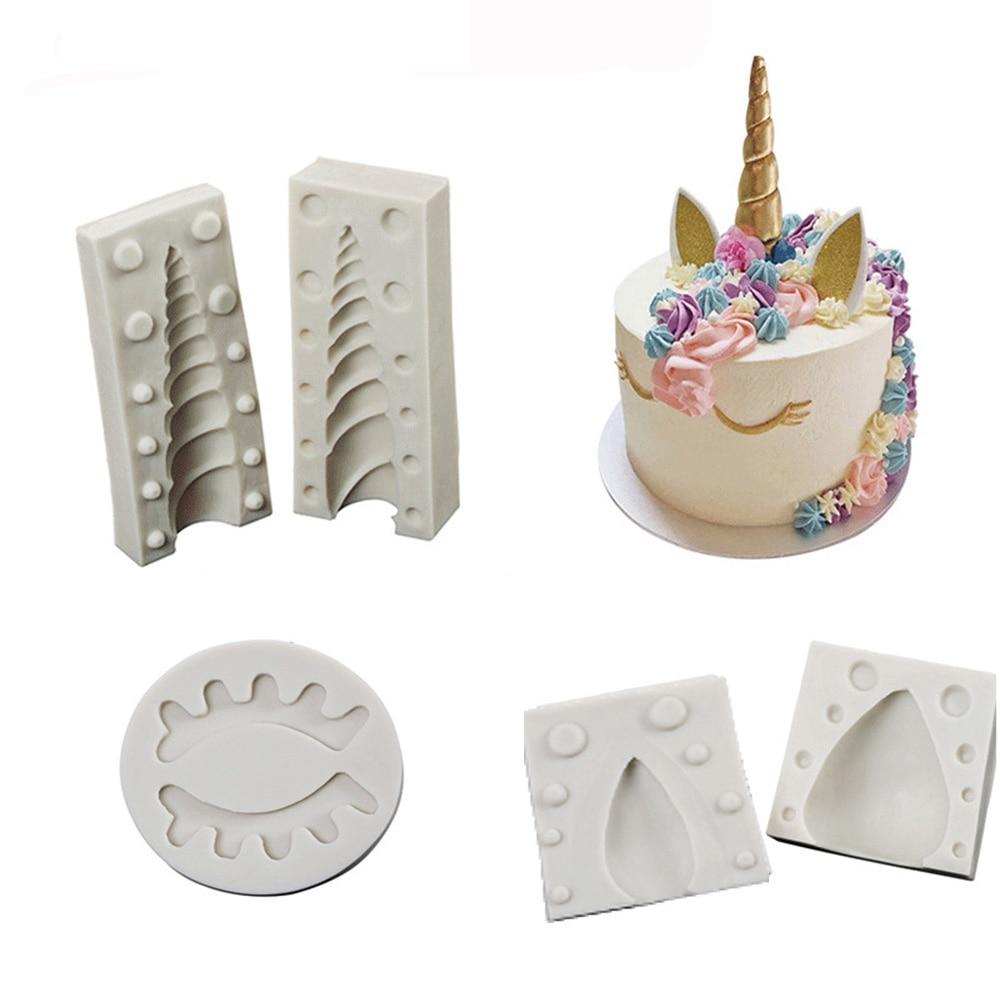 Unicorn/Ear/Eye silicone mold 1PC/ 2PCS fondant mold cake decorating tools chocolate gumpaste mould|moldes fondant|silicone mold fondantcake decorating tools - AliExpress