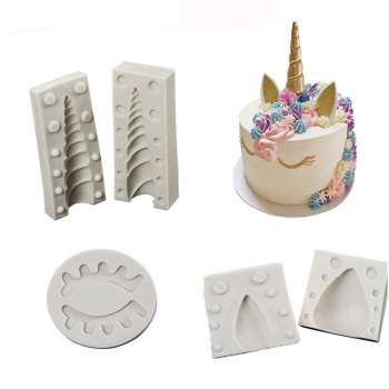 Unicorn/Ear/Eye silicone mold 1PC/ 2PCS fondant cake decorating tools chocolate gumpaste mould
