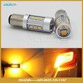 1156 1157 S25 P21W P21/5 Вт BAU15S PY21W для Поворота singal света с 15SMD 2835 LED Высокой Мощности Автомобилей Светодиодные стиль Лампы