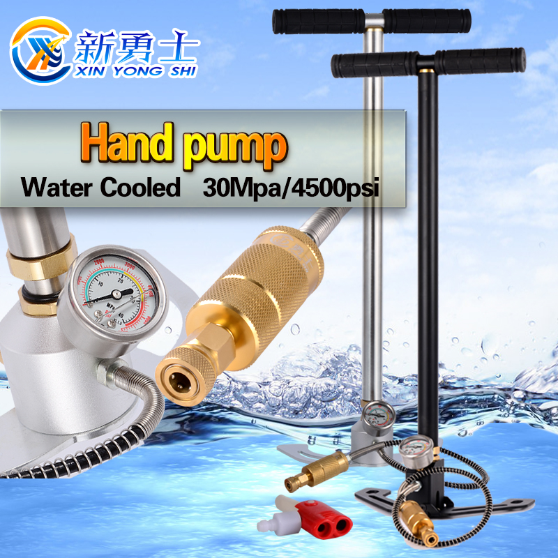 4500PSI 300bar 30mpa high pressure pcp hand operated air pump hand car mini foldable air pump air inflatable pump foldable 4500psi 300bar 30mpa high pressure pcp hand operated air pump hand car home mini panel with gauge