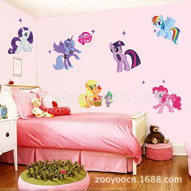 My Little Pony L And Stick Wall Stickers For S Nursey Room Cartoon Sticker Decals