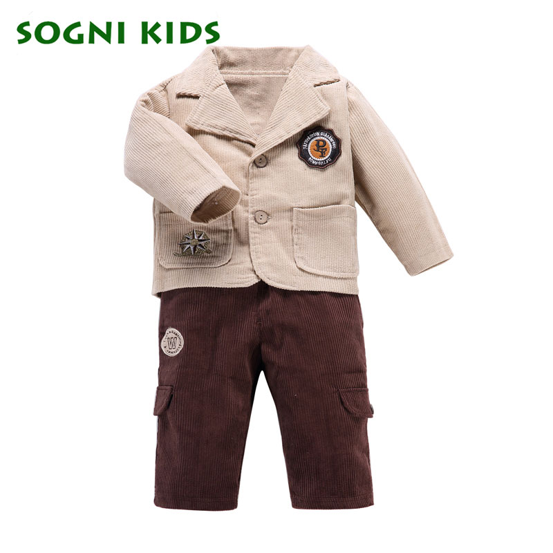 f76bd46ed997 SOGNI KIDS Boys clothing set coat+T shirt+pant three pieces long sleeved  kid cotton suit for boys spring clothes good quality-in Clothing Sets from  Mother   ...