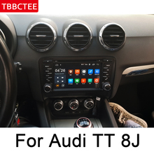 For Audi TT 8J 2006~2014 MMI Car Multimedia Player Android Auto Radio DVD GPS Navi Navigation Map Auto audio bluetooth stereo HD