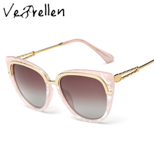 VeBrellen Brand Designer Anti-UV400 Oculos De Sol Gafas New Fashion Polarized Sunglasses Women Goggle Sun Glasses VJ115