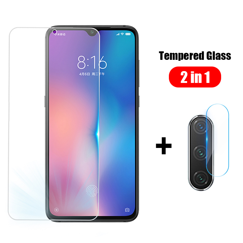 2 In 1 Tempered Glass+Camera Lens Film Soft Film For Xiaomi Mi 3A CC9 E CC9E 9 8 Lite SE Play Max Mix 3 Mi8 Mi9 Protective Film