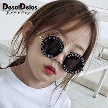 Steampunk Bee Kids Sunglasses Boys Girls Luxury Vintage Children Round Sun Glasses Oculos Feminino Accessories