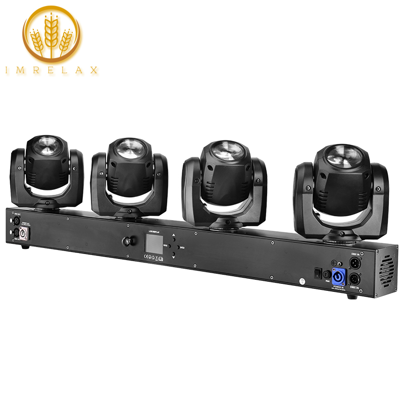 IMRELAX New 4 Heads Moving Head Light Individual Control 4 32W RGBW 4in1 LEDs DMX DJ