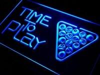 Czas, aby Grać i301 Basen Snooker Pokoju DOPROWADZIŁY Znak Światła Neon On/Off Przełącznik 20 + Kolory 5 Rozmiary