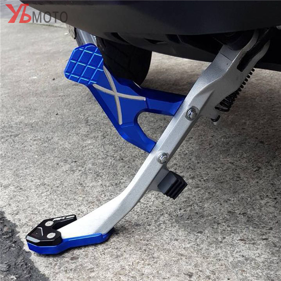 For KYMCO AK550 AK 550 2017 2019 Fashion Accessories Motorcycles CNC Kickstand Side Column auxiliary Seat Fast&Free shipping-in Covers & Ornamental Mouldings from Automobiles & Motorcycles