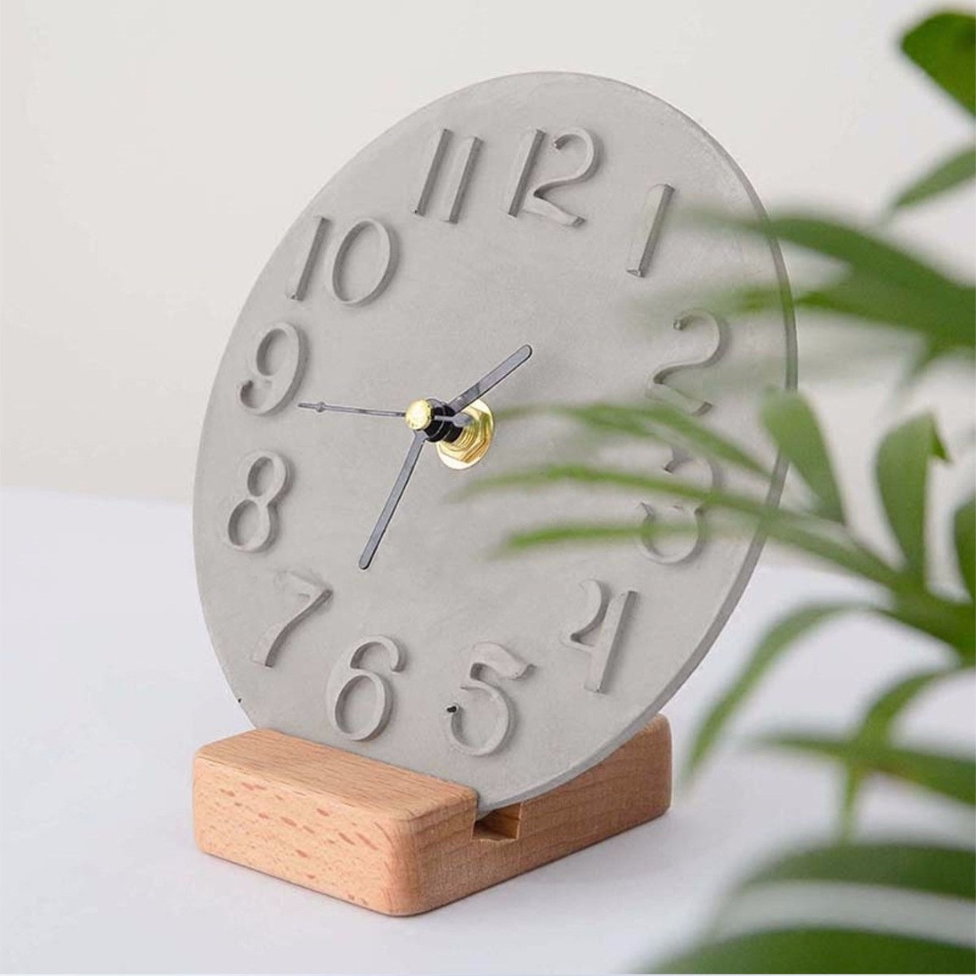 US $4 56 26% OFF|Roman Digital Clock Mould Crystal Epoxy Cement Silicone  Clock Mold Making Plaster Mould Handmade DIY Crafts-in Clay Molds from Home  &