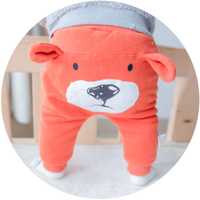 Newborn PP Pants Korean Style Bear Cartoon Bread Pants Boys And Girls Cotton Winter Autumn Casual Trousers