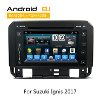 In Dash Car Stereo GPS Navigation For Suzuki Ignis 2017 Android8.1 DVD Player Head Unit Rear View Camera AUX bluetooth TPMS