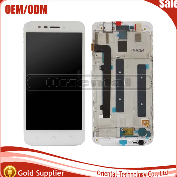 ФОТО new black for Vodafone Smart Prime 7 vfd600 Full LCD Display Panel Touch Screen Digitizer Glass Assembly With Frame Replacement