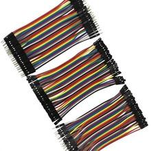 Dupont Line 10 см мужской+ Женский Мужской и Женский Соединительный провод Dupont кабель для arduino DIY KIT
