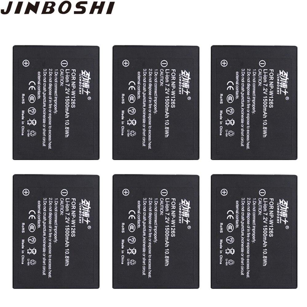 6 pcs/lots NP-W126S NP W126S Batterie rechargeable pour Fujifilm Fuji XT3 XA5 XT20 XT2 XT1 XH1 XT10 XE3 X100F NP-W126 Batterie