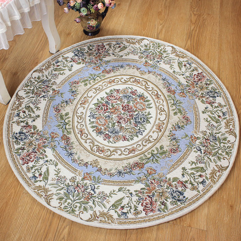 Mode 200 cm diamètre tapis rond Style américain moderne tapis pour salon ordinateur tapis grande zone rouge tapis chambre Tapetes