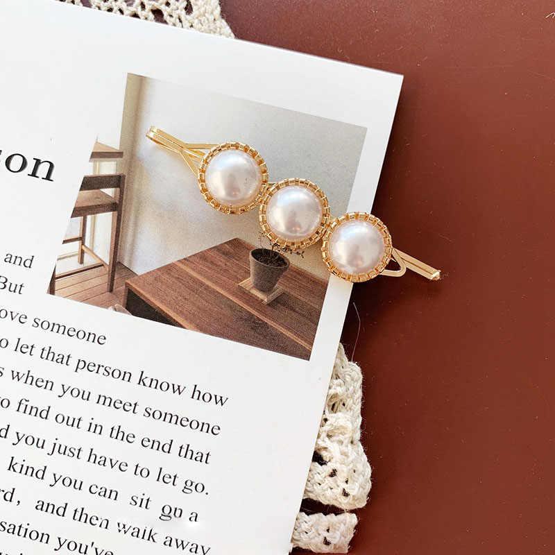 Baroque Pearl Hair Clip Vintage Rhinestone Headwear Women Bangs Clips Clamp Hairpins Hair Accessories Jewelry Styling Tool