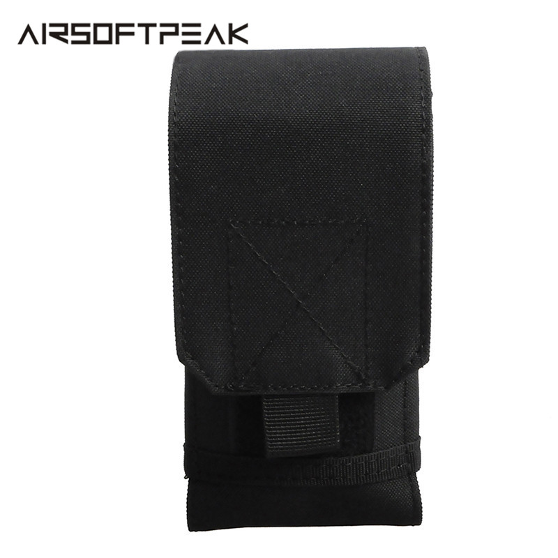 5.5 Inch Molle Tactical Phone Pouch Case EDC Military Mobile Phone Cover Wallet Flashlight Holder Accessory Pouches Hunting Bags
