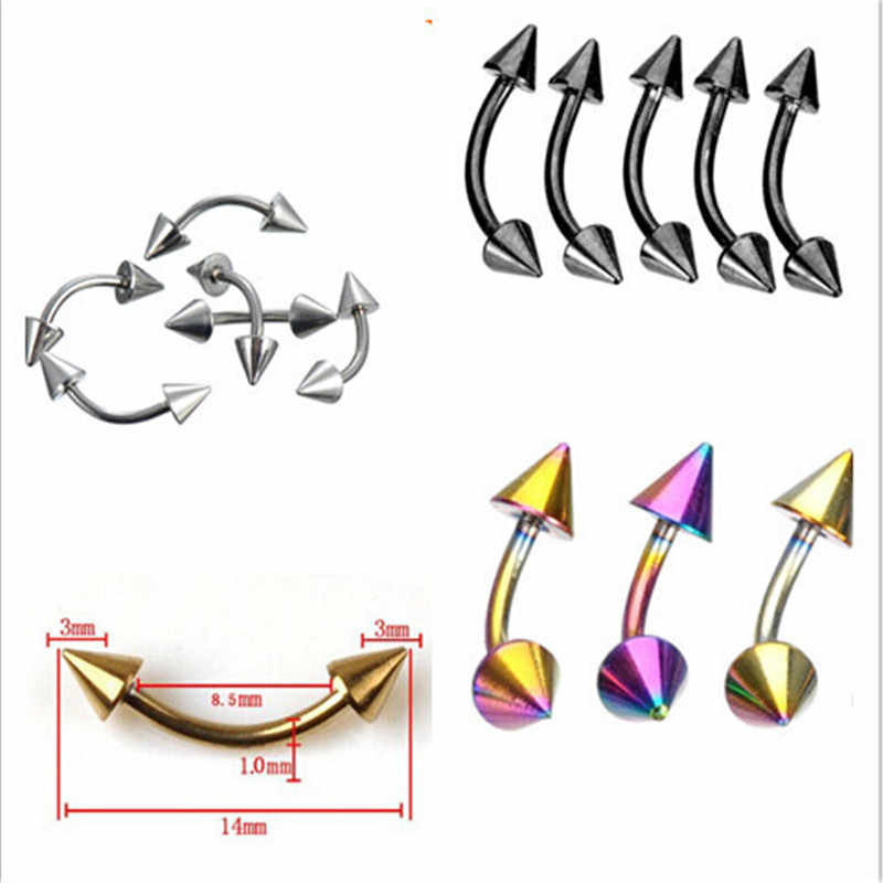 1pc New Punk Silver Bar Nose Ring Stud Piercing Labret Piercing Tragus Cartilage Helix Lip Stud Tragus Ear Body Piercing jewelry