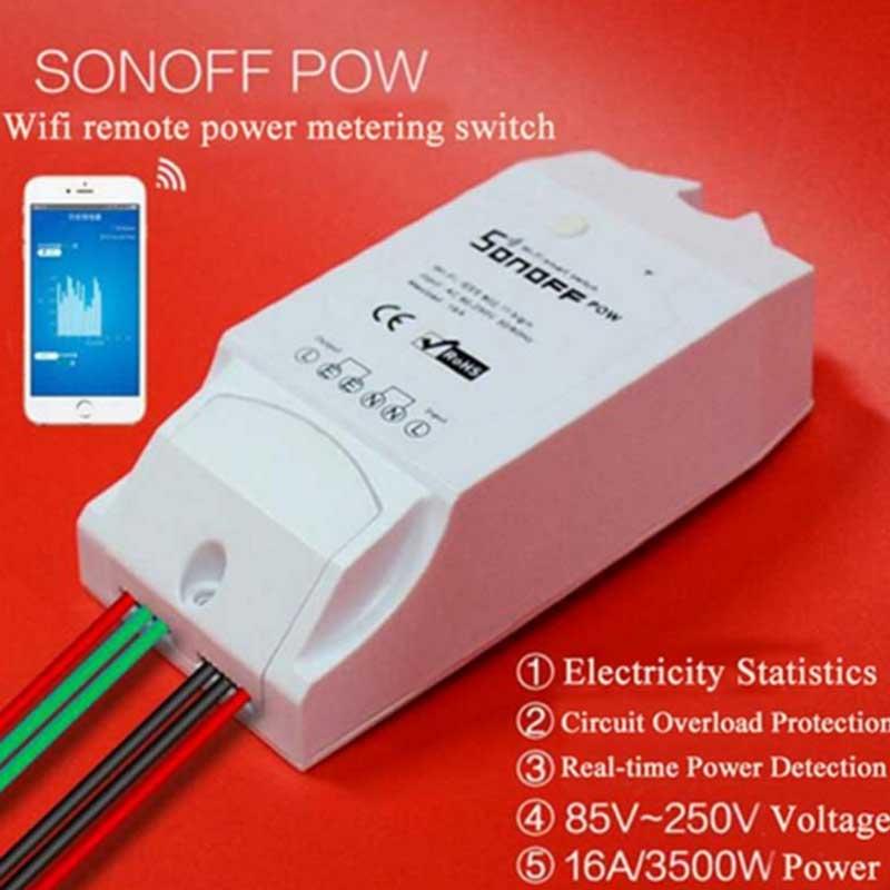 imágenes para Itead Sonoff Pow WiFi Inalámbrico Conmutador Con Consumo De Energía de Medición Estadística de Alimentación del Monitor de Control Remoto Casa Inteligente