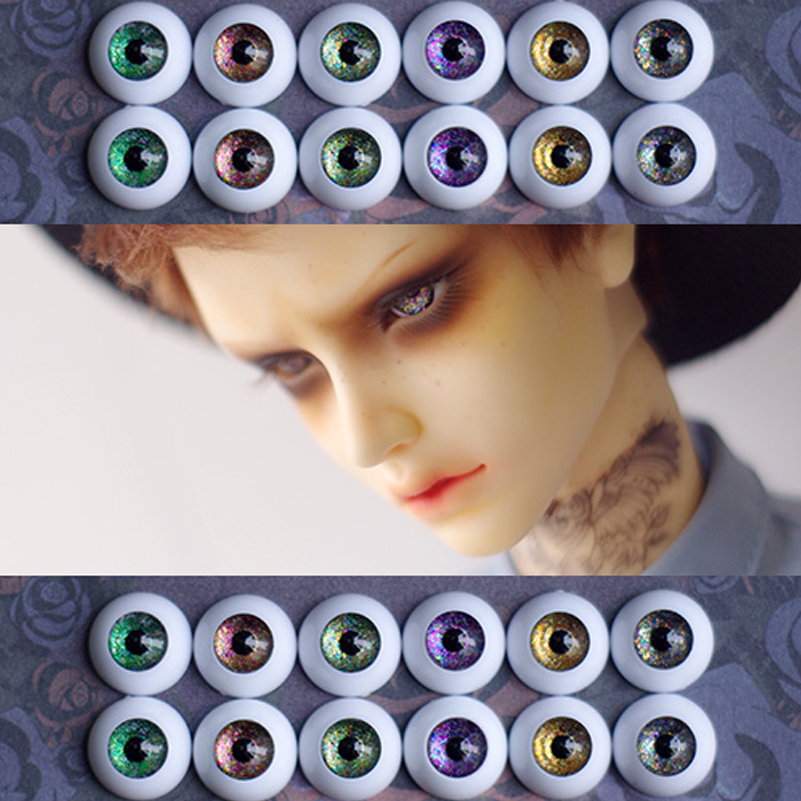 1 Pair DIY Acrylic BJD Eyes 12mm 14mm 16mm 18mm 20mm For SD Dolls Makeup Toys 1/3 1/4 1/6 BJD Doll Accessories Eyeball Girl Gift uncle 1 3 1 4 1 6 doll accessories for bjd sd bjd eyelashes for doll 1 pair tx 03