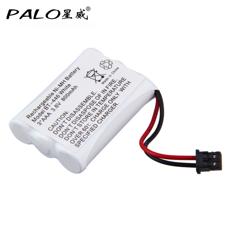 White Rechargebable Ni-MH Cordless Phone Battery Model BT-446 3*AAA 3.6v 800mAh стоимость