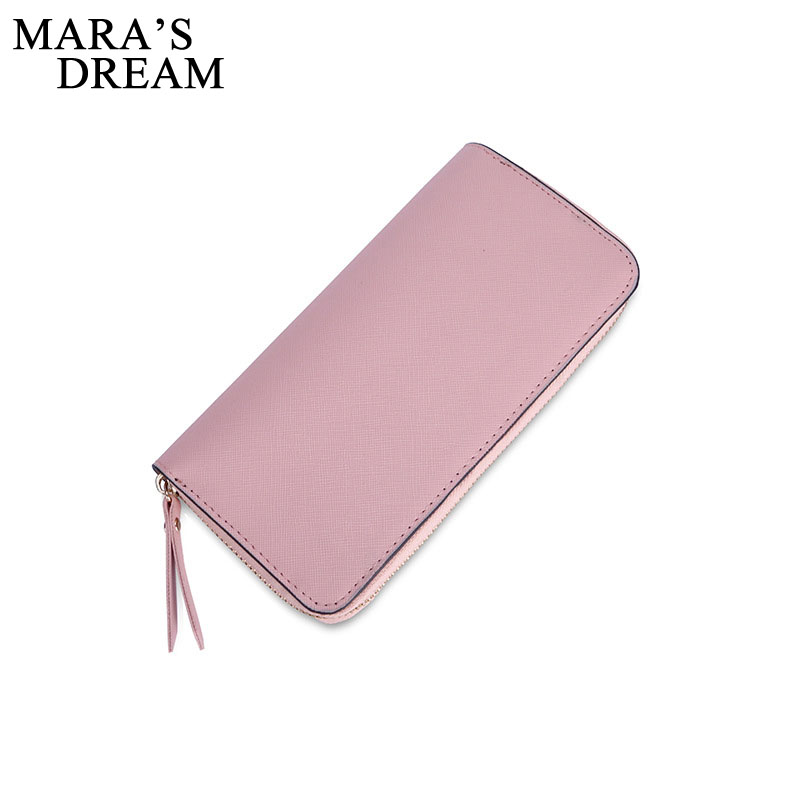 Mara's Dream 2018 Brand Wallet Women Wallets Black Pu Leather Women Purses Fashion Wallet Long Card Holder Purse Handbag Clutch