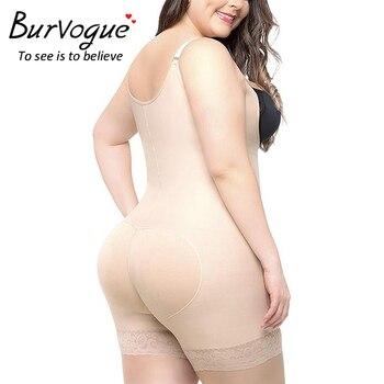 Burvogue Slimming Underwear Bodysuit Women Butt Lifter Modeling Strap Body Shaper Plus Size Shapewear Tummy Control Body Shaper 1